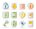 Simple Security And Business Icons Royalty Free Stock Photo - 16287405