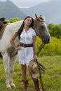 Dreamy Cowgirl Royalty Free Stock Image - 16287436