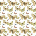 Butterflies Seamless Repeat Pattern Background Royalty Free Stock Photo - 16287495