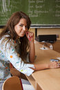 Young Student In The Classroom Royalty Free Stock Photography - 16293277
