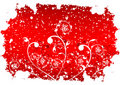 Abstract Grunge Winter Background With Flakes And Flowers In Red Stock Photos - 1633583