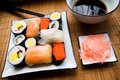 Assorted Sushi On Plate Stock Photo - 1635800