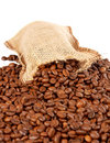 Burlap Sack And Coffee Beans Stock Photos - 1637843