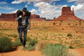 Cowboy Crossing The Desert Stock Images - 16348564