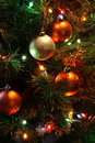 Christmas Tree With Balls Royalty Free Stock Image - 16349026