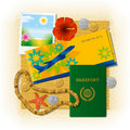 Tropical Travel Still Life Stock Images - 16350314