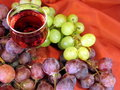 Glass Of Wine And Grape Royalty Free Stock Image - 16355046