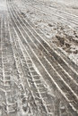 Tire Tracks In Snow Stock Photo - 16358740