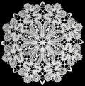 White Doily With Lace Stock Images - 16361414