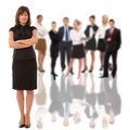 Businesswoman And Her Team Royalty Free Stock Photo - 16361735