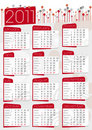 Graphic Calendar In Red And Grey Royalty Free Stock Images - 16380569