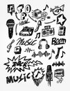 Music Doodle Stock Image - 16381081