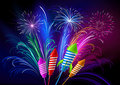 Fireworks And Rockets Royalty Free Stock Photography - 16393557