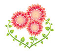 Heart Shaped Flowers Family Stock Photography - 16396412