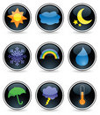 Glossy Weather Buttons Royalty Free Stock Image - 16397956