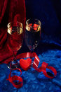 Champagne And Heart Royalty Free Stock Images - 1642969