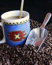 Coffee Beans With Cup Stock Photo - 16401150