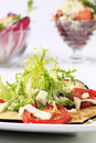 Grilled Vegetables And Salad Greens Stock Image - 16417331