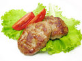 Cooked Meat Cutlets With Vegetables Royalty Free Stock Images - 16419429