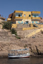 Nubian Homes, Aswan Egypt, Nile River Travel Royalty Free Stock Images - 16423399