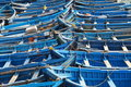 Blue Fishing Boats Royalty Free Stock Photo - 16438565