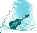 Blue Guitar Stock Photography - 16448192
