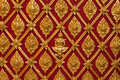 Thai Temple Golden Carving Wall Royalty Free Stock Image - 16448276