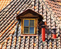 Old Tiles Roof And Window Royalty Free Stock Photos - 16466548
