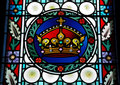 Stained Glass Window In St.Vitus Cathedral,Prague Stock Photos - 16471573