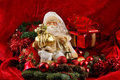 A Christmas Background Image With A Toy Santa Royalty Free Stock Photos - 16477848