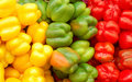 Close Up Of Red, Yellow And Green Peppers Stock Images - 16482974