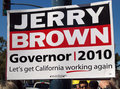 Jerry Brown For Governor Sign On A Light Post Stock Photography - 16494372