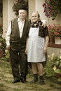 Old Couple Portrait Royalty Free Stock Image - 16495426