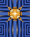 Blue Organ Pipes Cross Stock Image - 1655641