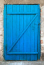 Old Blue Wood Door Royalty Free Stock Photography - 16516777