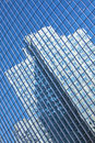 Beautiful Glass Office Building With Blue Reflecti Royalty Free Stock Photos - 16521228
