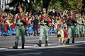 Spanish Legionarios Marching With Their Pet Royalty Free Stock Images - 16523239