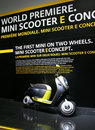 Mini Scooter E Concept At Paris Motor Show Royalty Free Stock Photo - 16529745