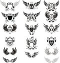 Collection Of Vintage Vector Coat Of Arms Stock Photography - 16538292