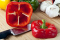 Bell Pepper With Top Removed Stock Image - 16550331