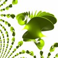 Green Plastic Spiral - Wave Polishes And Reflecting Royalty Free Stock Photo - 1668025