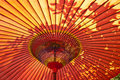 Red Japanese Parasol Stock Image - 16607741