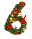 Christmas Alphabet Number 6 Royalty Free Stock Photography - 16640077