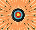 Colorful Target Hit By Arrows Royalty Free Stock Photos - 16658188