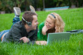 Young Couple Relax And Listen To Music Royalty Free Stock Photo - 16669775