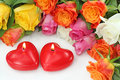 Two Heart Candles Royalty Free Stock Photography - 16672967