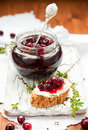 Toast With Cranberry Jam Royalty Free Stock Photography - 16681427