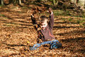 Boy In Leaves Stock Photography - 16682302
