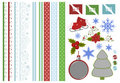 Collection Of Christmas Scrapbook Decors Royalty Free Stock Photo - 16684155