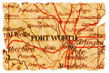 Fort Worth Old Map Stock Image - 16696491